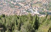 La città di Gubbio vista dal Ristorante